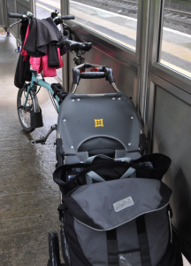 My Brompton with Burley Travoy trailer